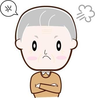 Angry, senior man, upper body