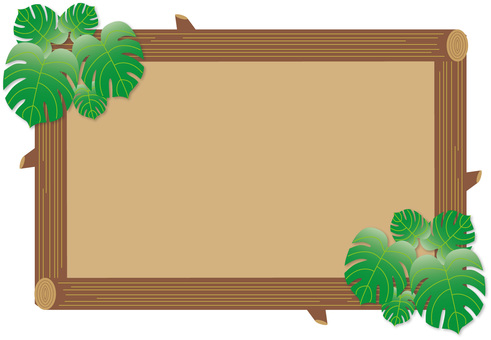 Monstera and tree frame 01