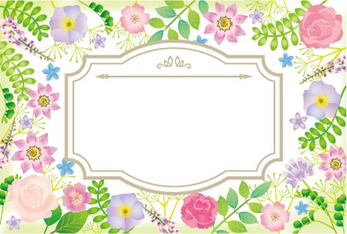 식물과 꽃의 프레임 프레임