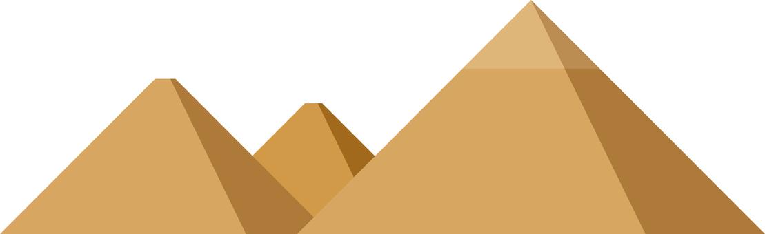 シンプルなピラミッド