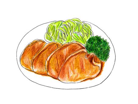 Ginger grilled pork