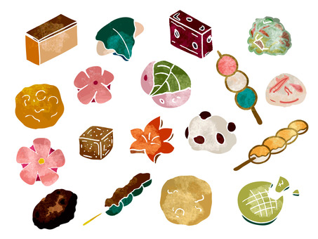 Japanese confectionery illustration