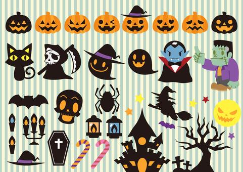 Halloween material set 01