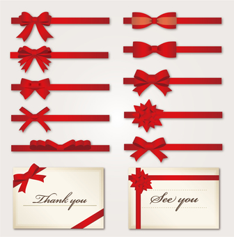 Material Ribbon Material Set (Red)