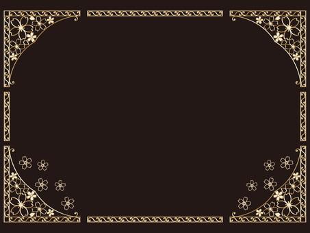 Sakura gold frame
