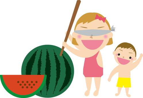 Children's watermelon split