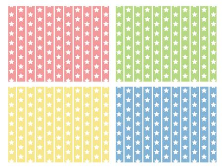 Vertical stripe × 4
