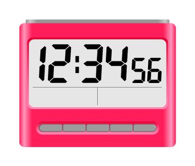 Digital alarm clock Pink