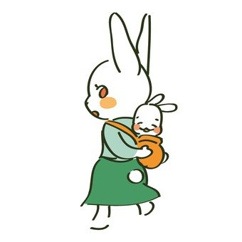 Parent and child of rabbits