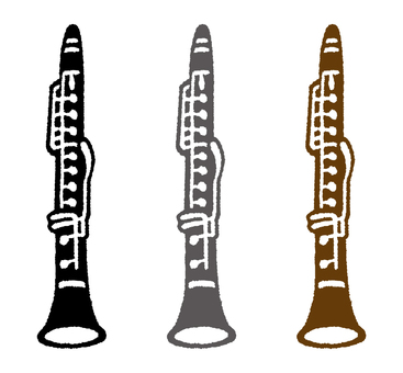 Instrument (clarinet) 3 colors