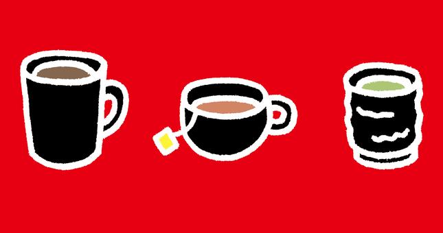 Coffee and tea and green tea 4