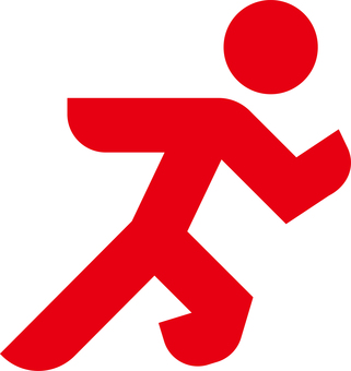 Running pictogram