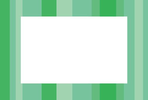 Plant color square frame (vertical)