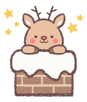 Chimney reindeer