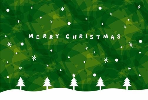 Christmas / card green tree