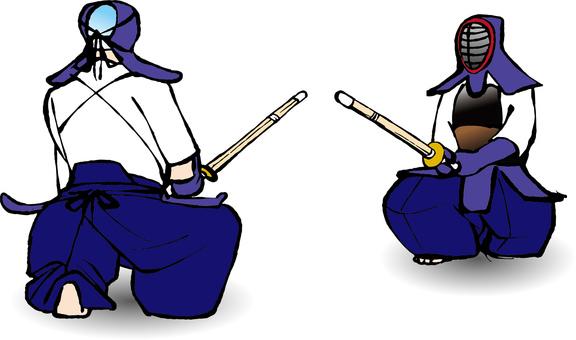 Kendo 蹲踞 2_ color