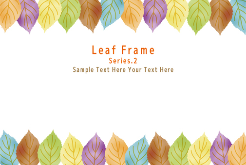 Colorful leaf frame 2