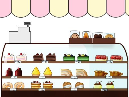 Cake shop material