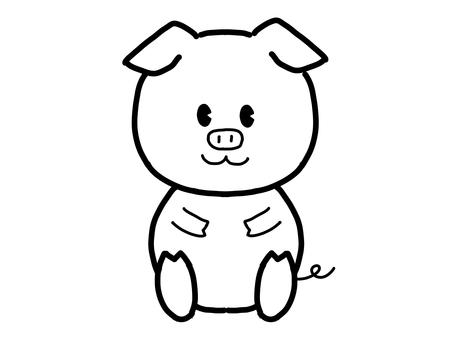 돼지 색칠