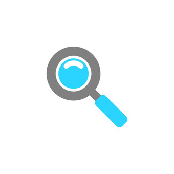 Illustration icon of magnifying glass
