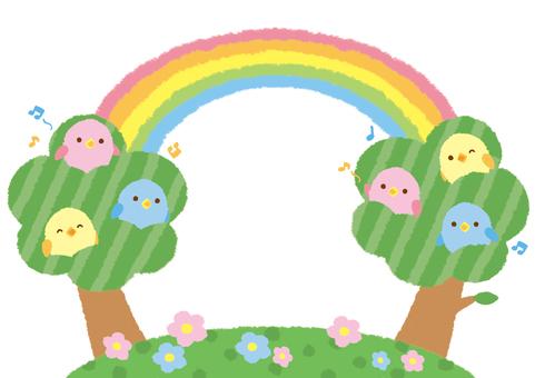 새가 노래하는 숲 프레임
