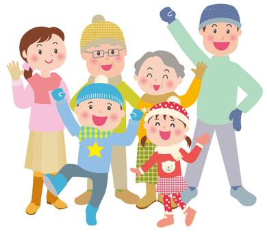 겨울 건강 가족 2