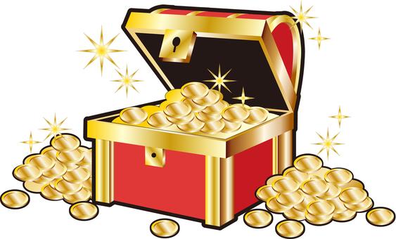 金貨一杯の宝箱