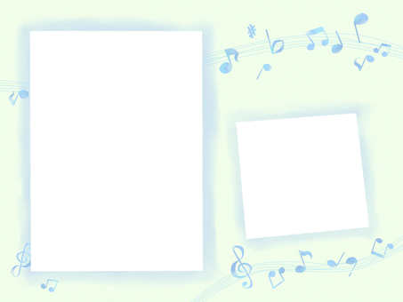 Frame note note blue