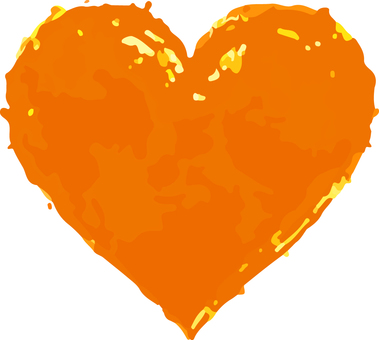 Heart _ watercolor _ 03 _ orange