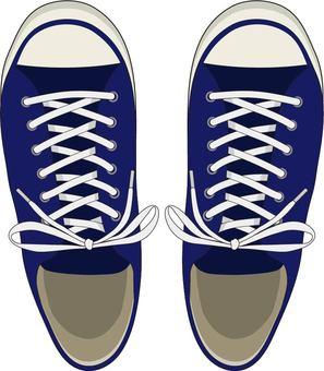 Sneakers dark blue knot
