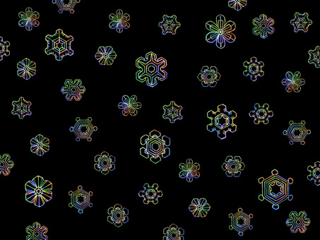 Snow Crystal 3 Neon B