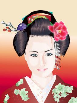 Japanese hair lady 01