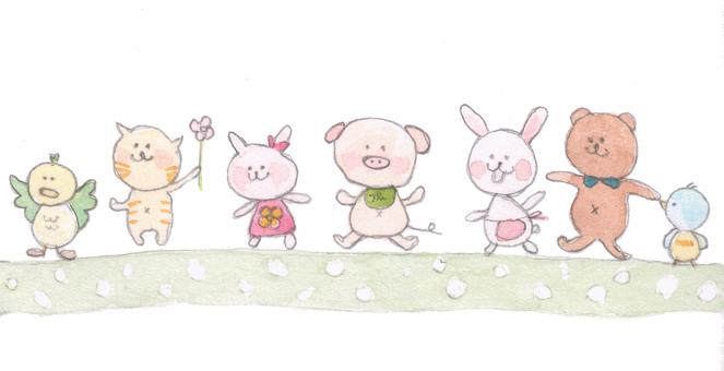 Cute animals illustration 2
