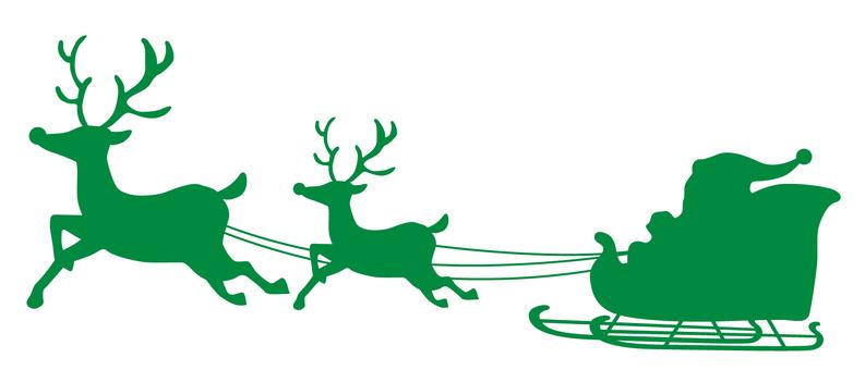 Christmas silhouette green