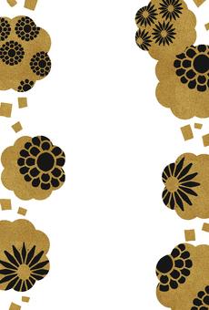 Natural frame material 62 Japanese pattern