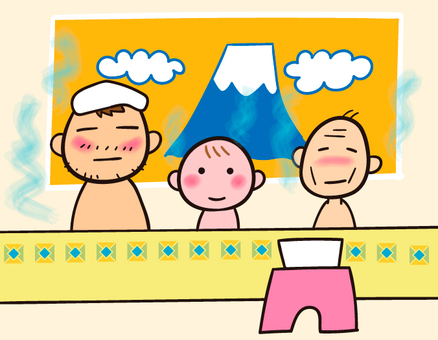 Sentoku · bath with parent and child 3 years old