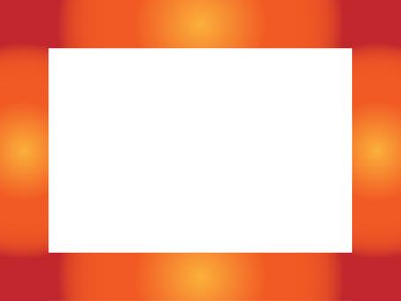 Gradation frame (warm color system)