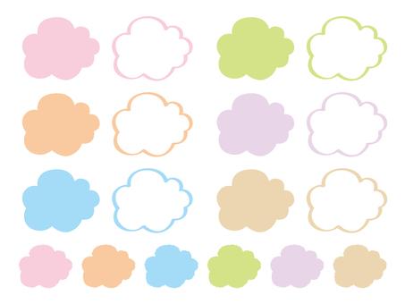 Pastel color cloud