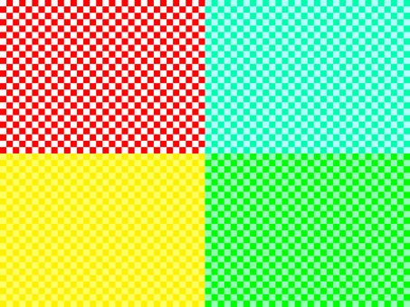 4 types of checkered pattern
