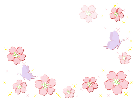 Cherry blossoms and butterflies (cs 2 ↓)