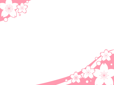 Cherry blossom decorative frame 5