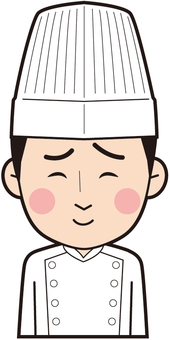 Male chef (shivering)