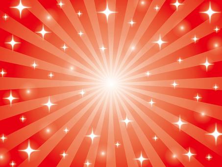 赤いキラキラの放射背景