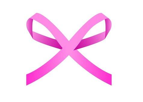 Simple thin ribbon (pink)