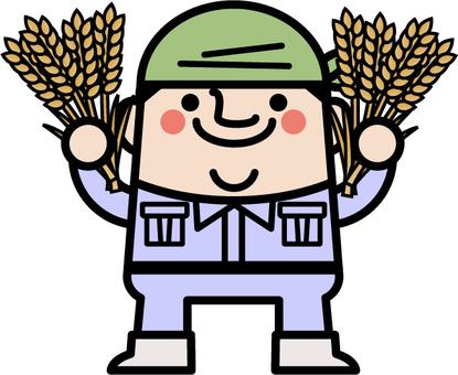 Uncle fairy wheat farmer