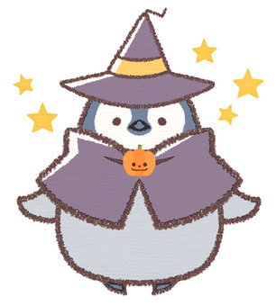 Halloween penguin chicks