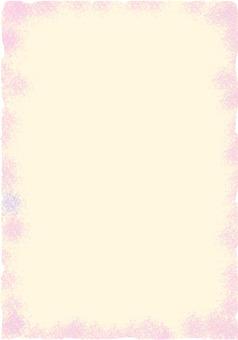 Light pink Japanese paper frame