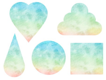 Pastel color material set watercolor style