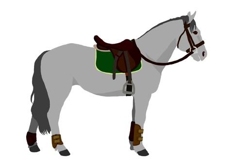 Equestrian equestrian horse (ash)