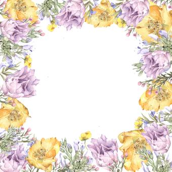 봄 꽃다발 꽃 프레임 - 프레임